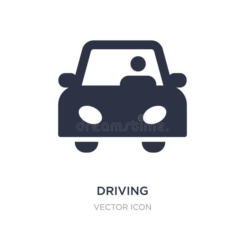 conduzindo o ícone no fundo branco Ilustração simples do elemento do conceito do transporte ilustração do vetor