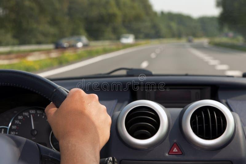 Conduzindo um carro fotos de stock
