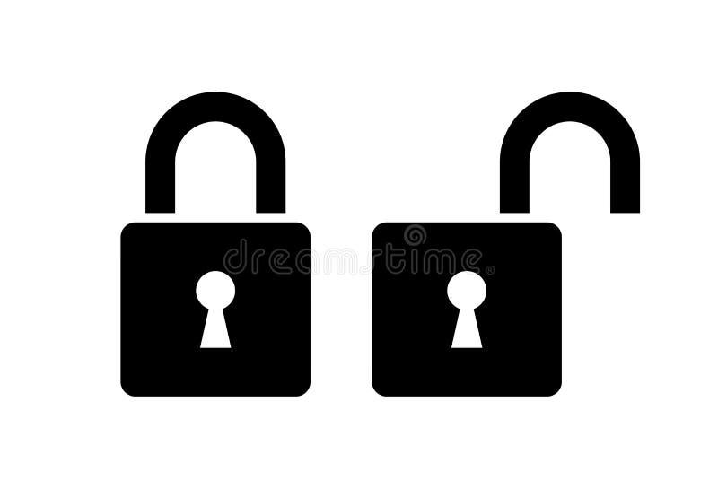 ?cone aberto e fechado do fechamento ilustração royalty free