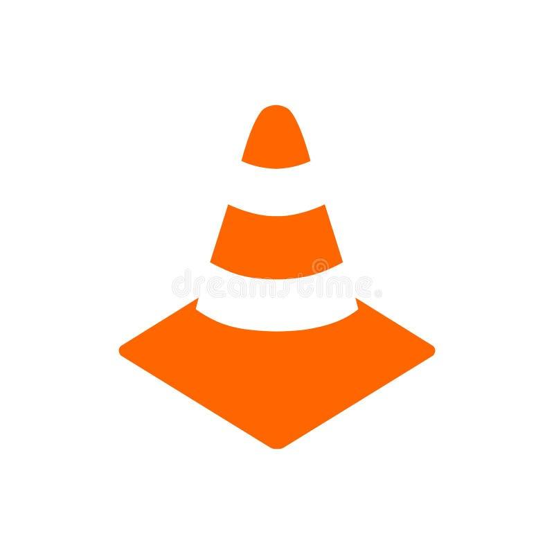 Cone alaranjado e branco da segurança ilustração royalty free