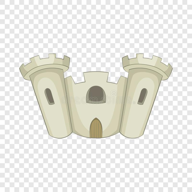 ?cone antigo do castelo, estilo dos desenhos animados ilustração royalty free