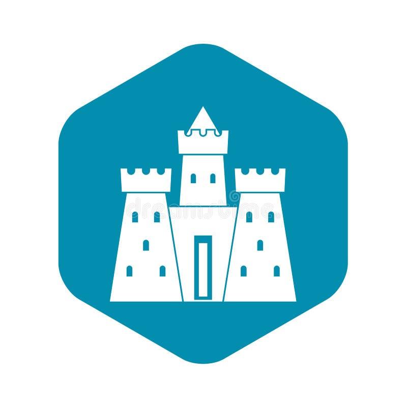 ?cone antigo do pal?cio do castelo, estilo simples ilustração stock