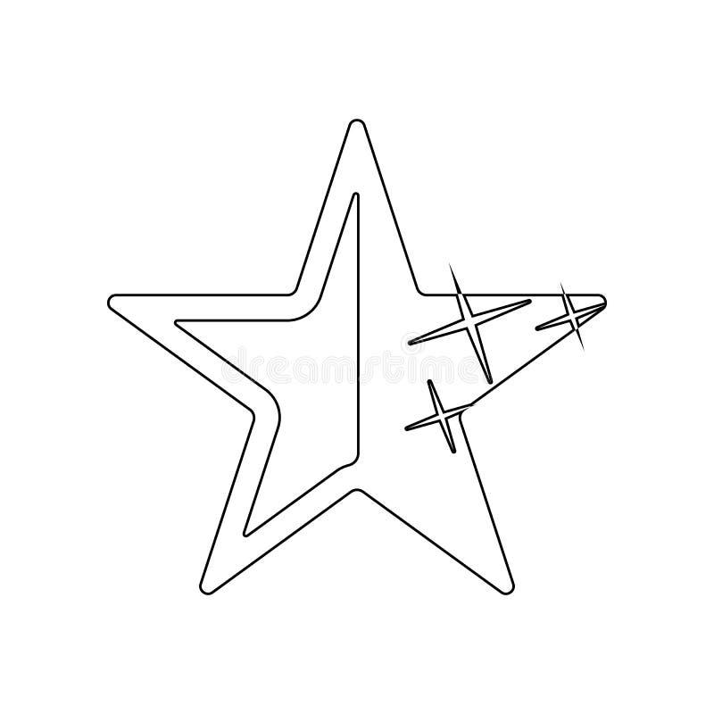 ?cone Cinco-agu?ado da estrela Elemento das estrelas para o conceito e o ?cone m?veis dos apps da Web Esbo?o, linha fina ?cone pa ilustração stock