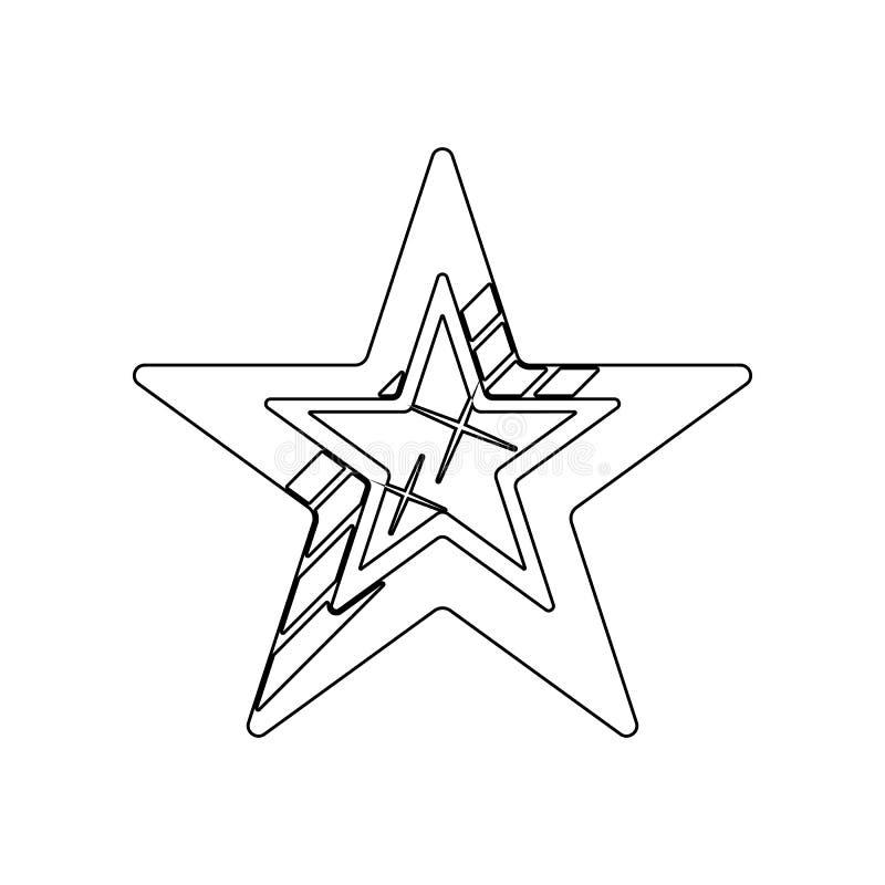 ?cone Cinco-agu?ado da estrela Elemento das estrelas para o conceito e o ?cone m?veis dos apps da Web Esbo?o, linha fina ?cone pa ilustração royalty free