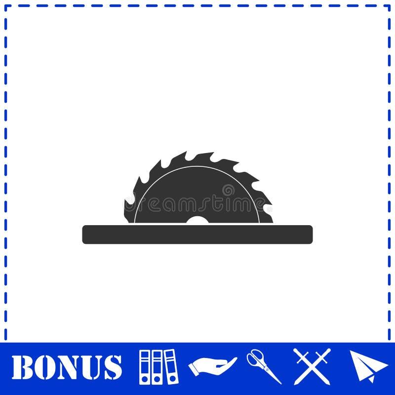 ?cone circular das l?minas de serra horizontalmente ilustração do vetor