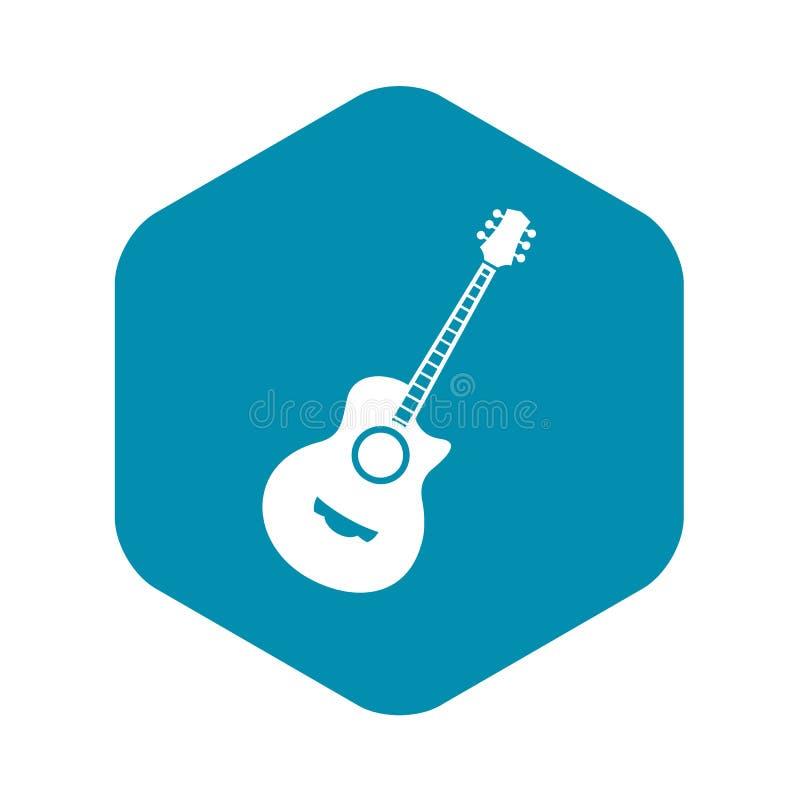 ?cone cl?ssico da guitarra, estilo simples ilustração stock