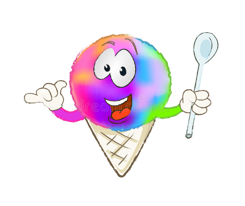 Cone colorido da neve ilustração royalty free