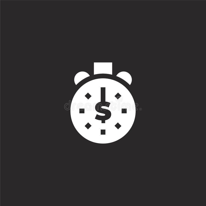 ?cone cronometrando Ícone do sincronismo Filled para o projeto do Web site e o móbil, desenvolvimento do app ícone do sincronismo ilustração royalty free