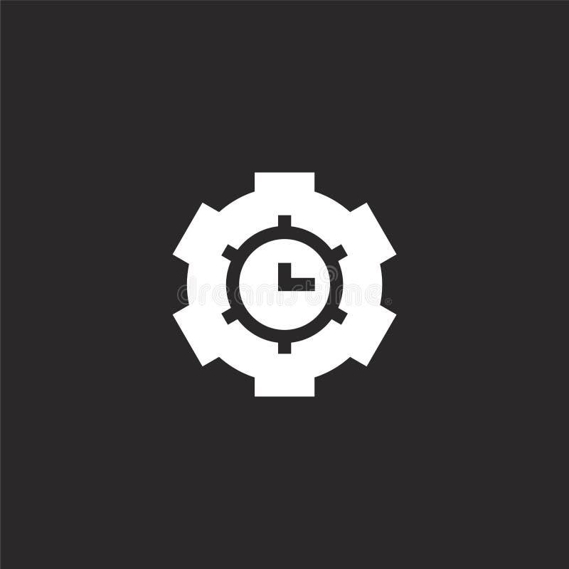 ?cone cronometrando Ícone do sincronismo Filled para o projeto do Web site e o móbil, desenvolvimento do app ícone do sincronismo ilustração stock