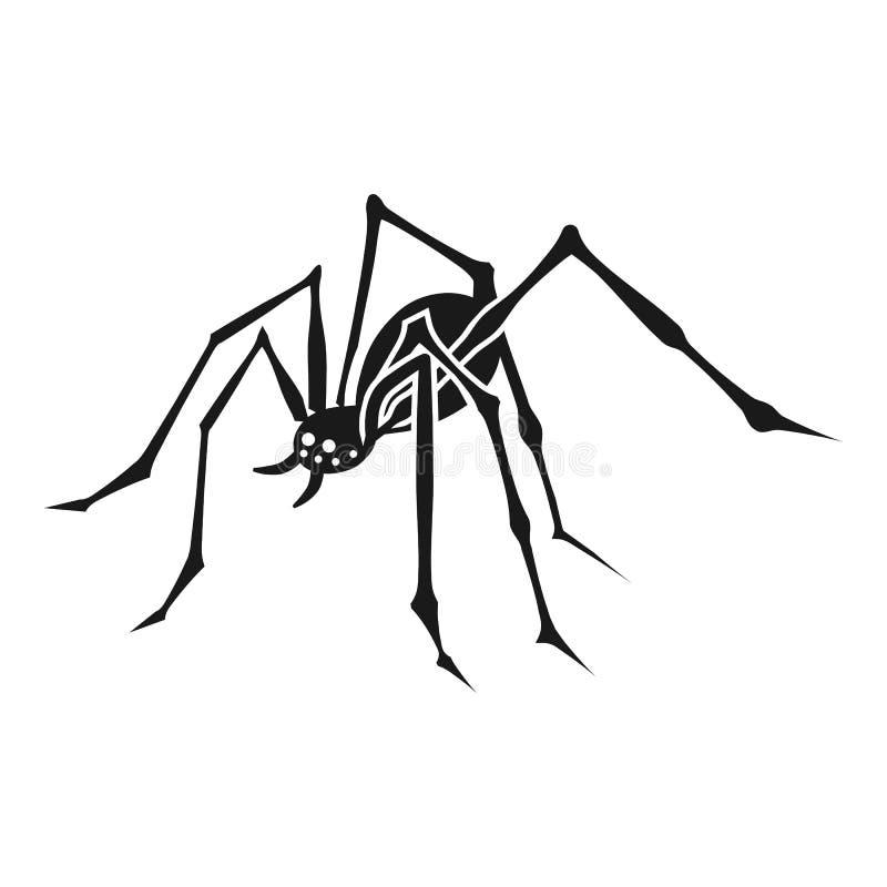 ?cone da aranha, estilo simples ilustração royalty free