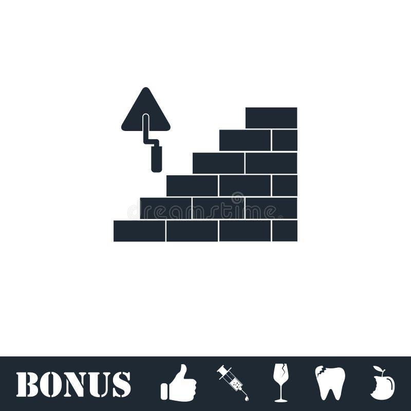 ?cone da arquitetura e da constru??o horizontalmente ilustração royalty free