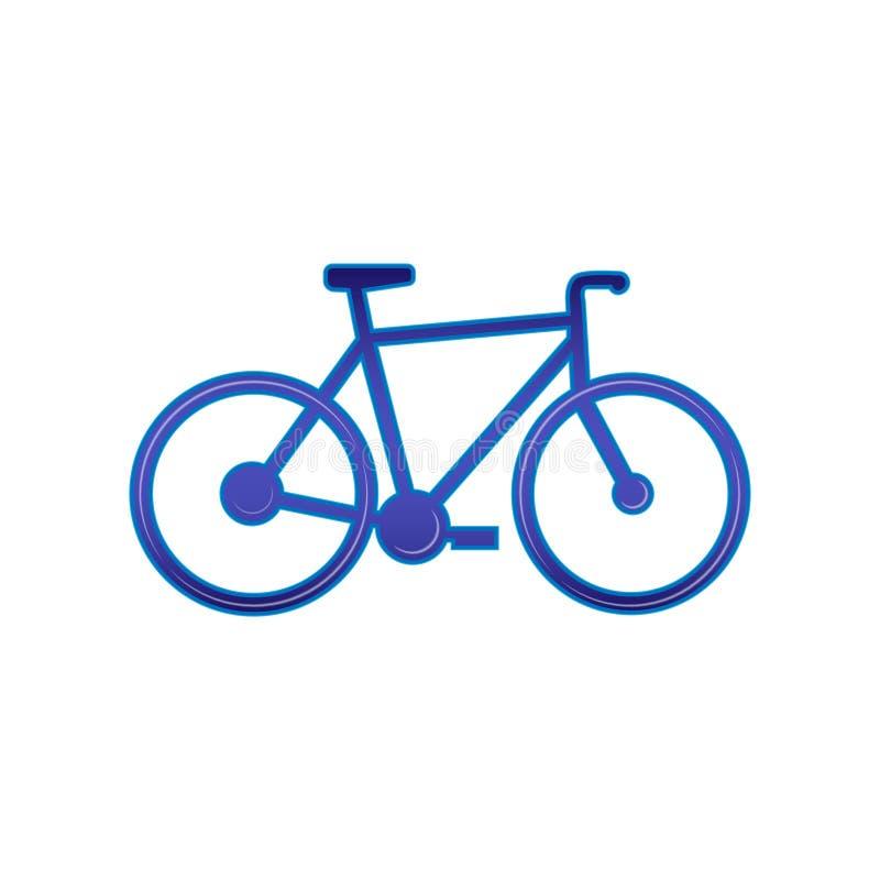 ?cone da bicicleta Vetor, isolado em um fundo branco ilustração royalty free