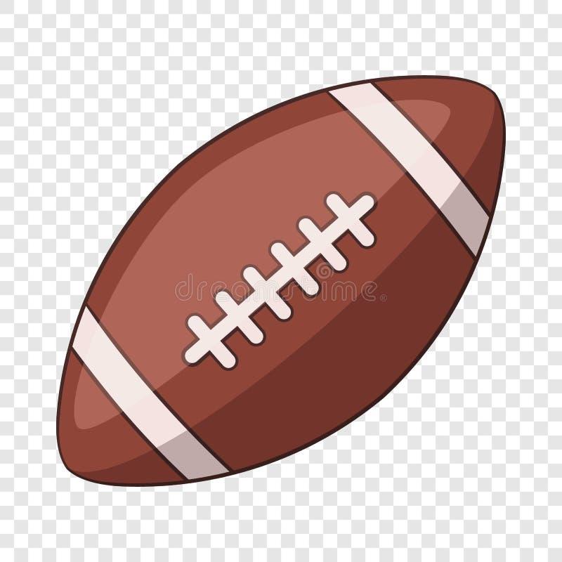 ?cone da bola de rugby, estilo dos desenhos animados ilustração stock
