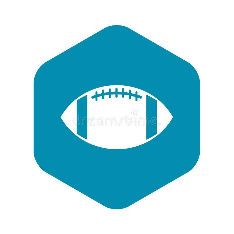 ?cone da bola de rugby, estilo simples ilustração stock