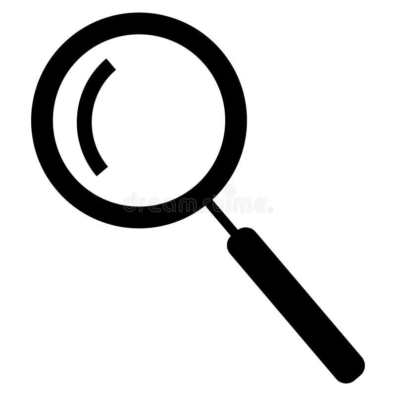 ?cone da busca isolado no fundo branco ?cone na moda da busca no estilo liso ?cone da lupa para o app, o ui, o logotipo e o site ilustração royalty free