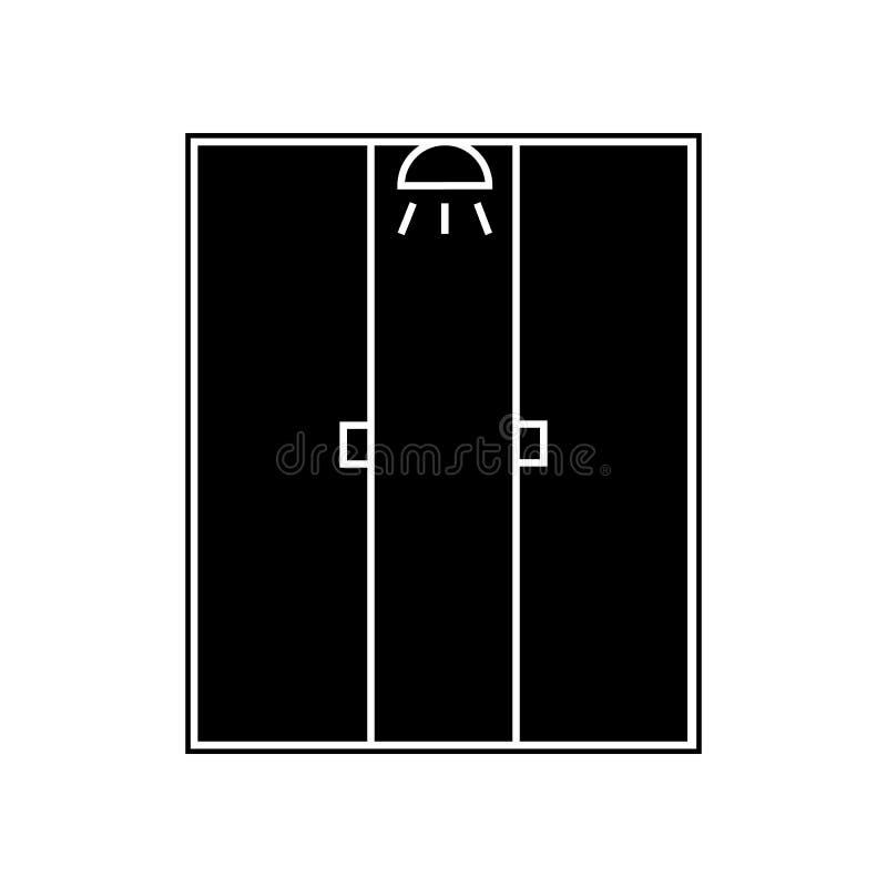 ?cone da cabine do chuveiro Elemento do banheiro para o conceito e o ?cone m?veis dos apps da Web Glyph, ?cone liso para o projet ilustração royalty free