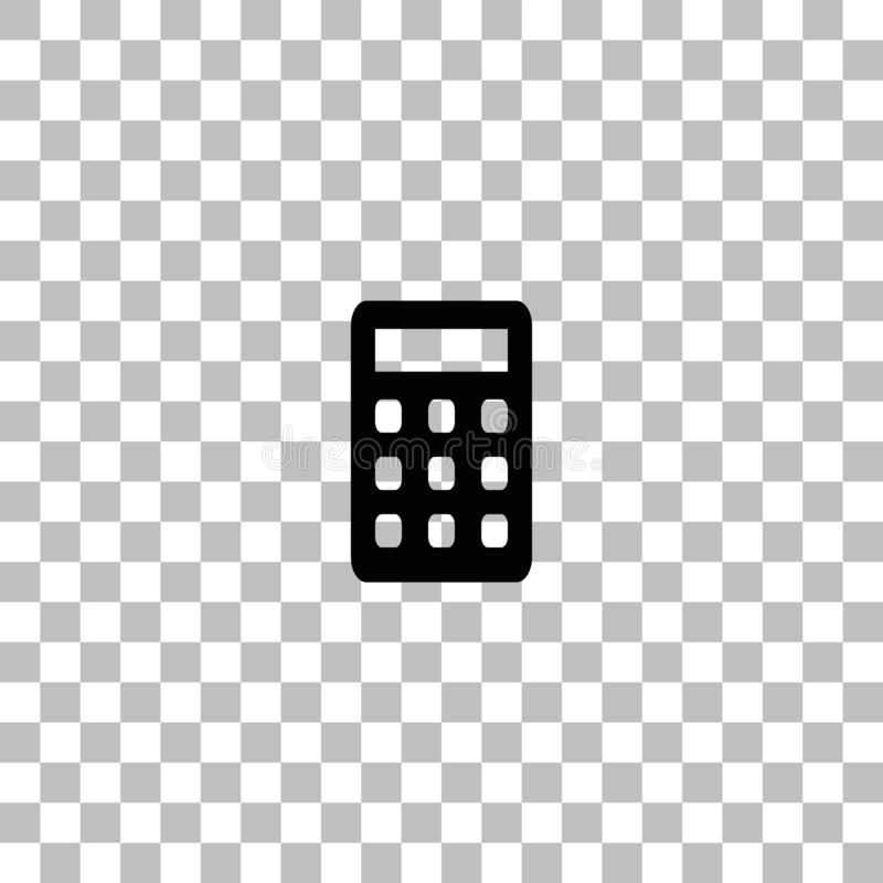 ?cone da calculadora liso ilustração royalty free