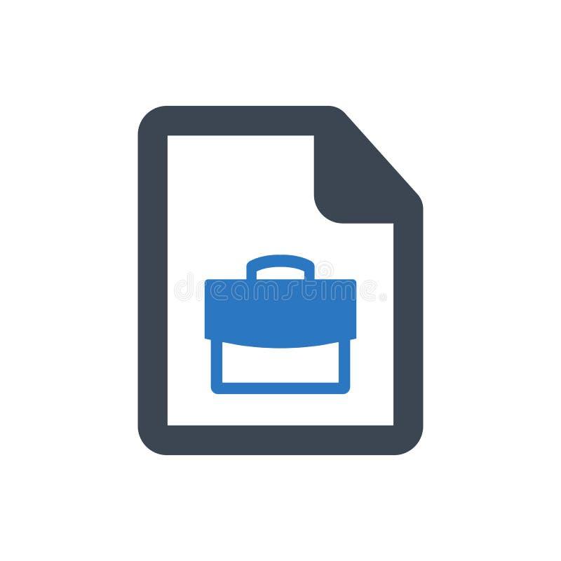 ?cone da candidatura a cargo ilustração stock