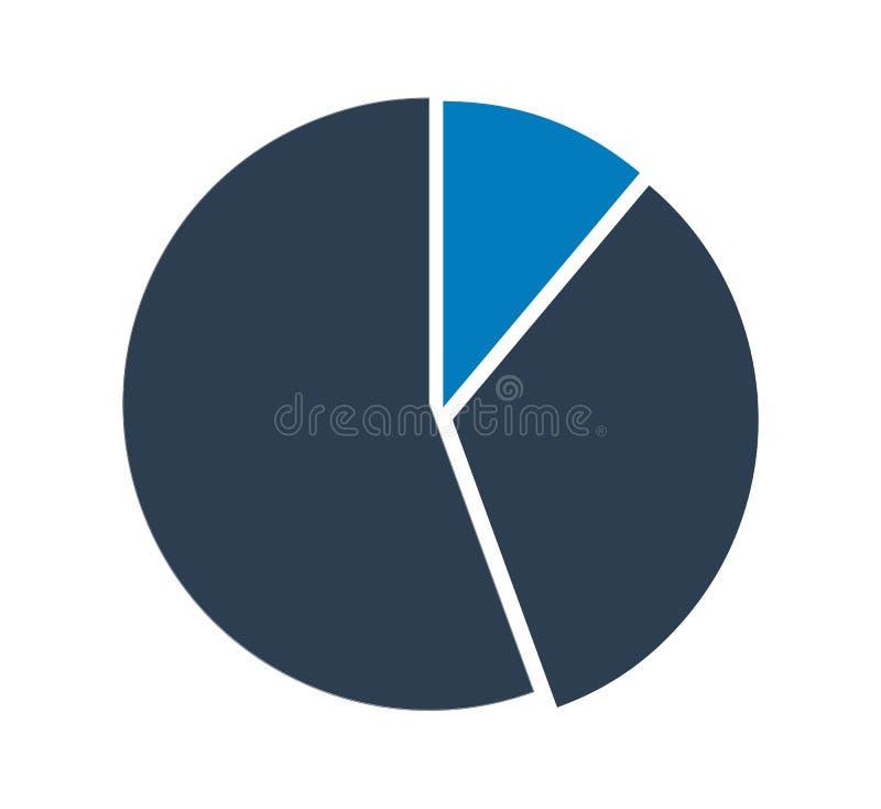 ?cone da carta de torta ilustração stock