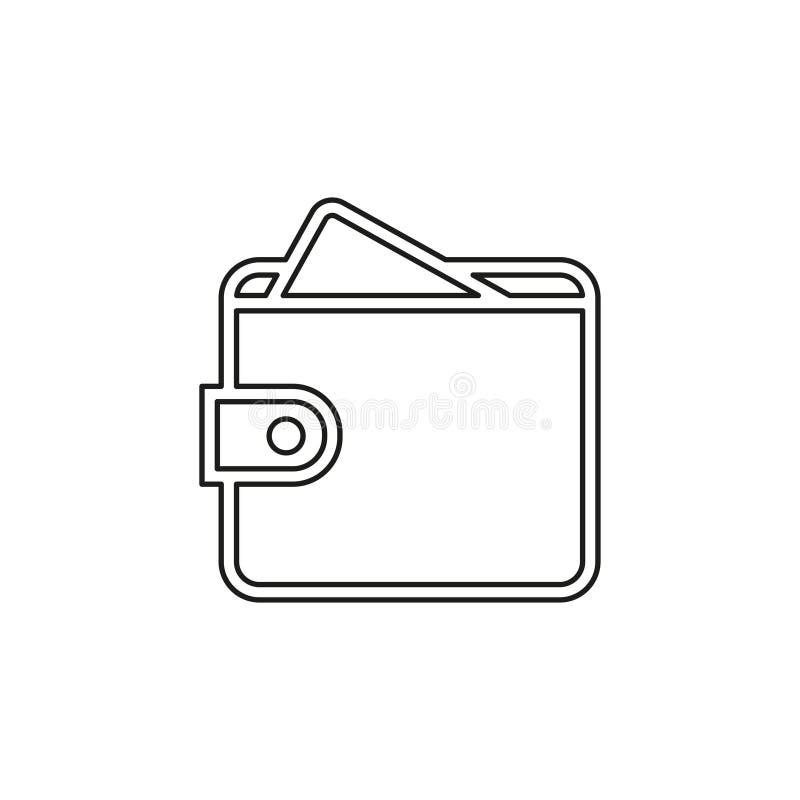 ?cone da carteira do dinheiro do vetor, bolsa ilustração stock
