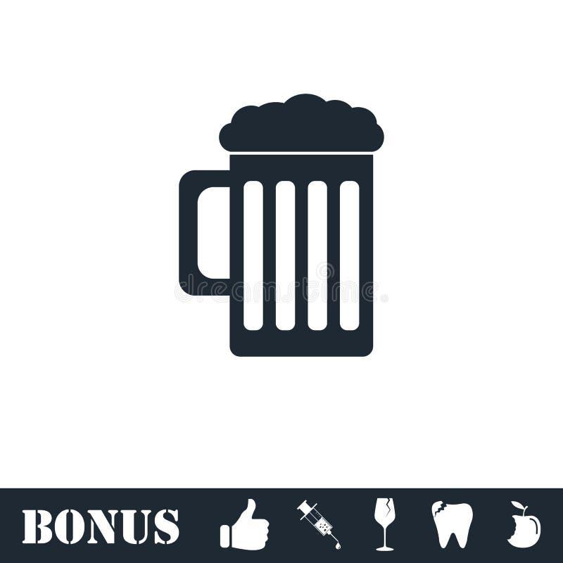?cone da cerveja liso ilustração royalty free