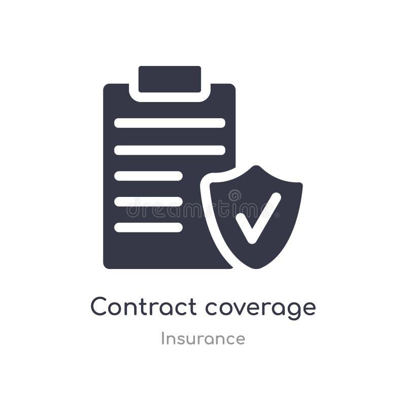 ?cone da cobertura do contrato ilustração isolada do vetor do ícone da cobertura do contrato da coleção do seguro edit?vel cante  ilustração do vetor