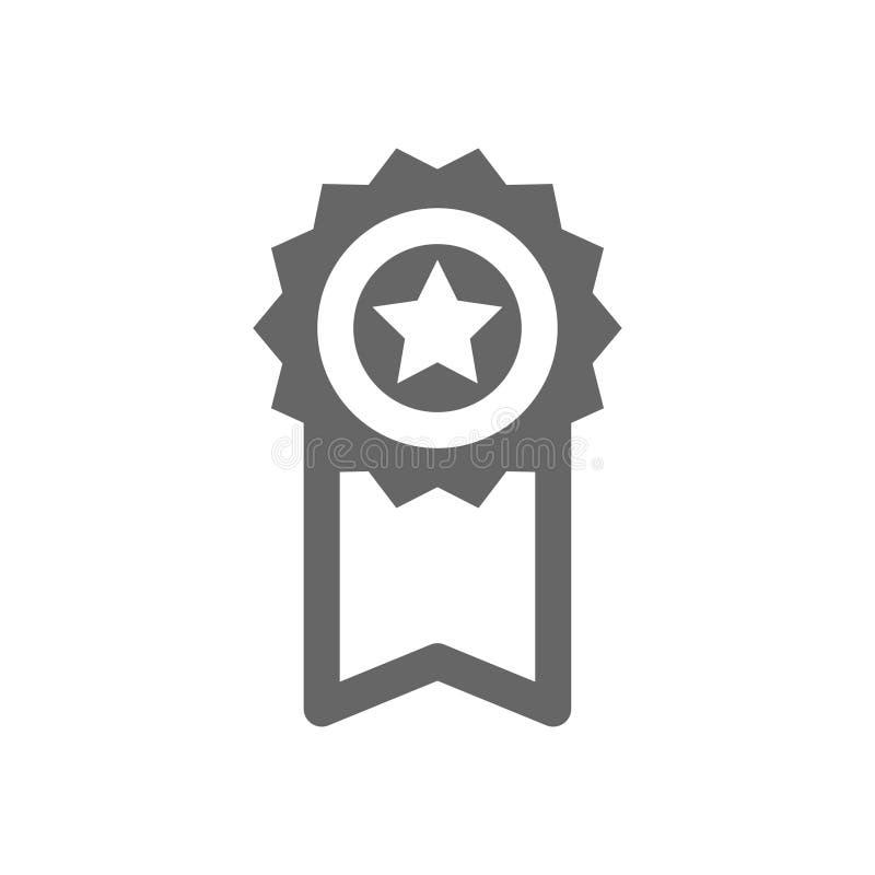 ?cone da concess?o Sinal da recompensa Estrela com fita ilustração stock