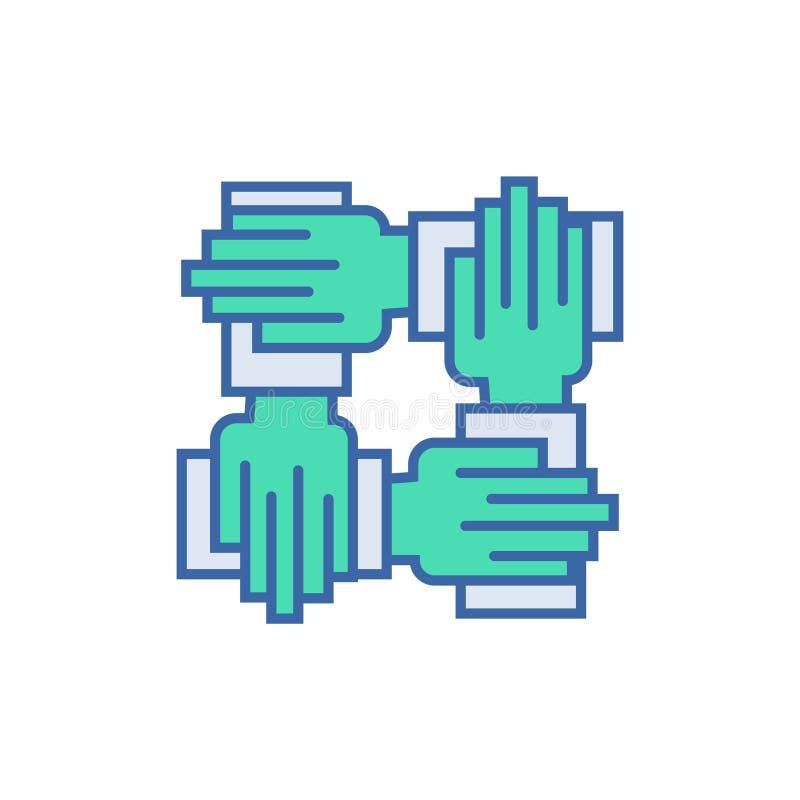 ?cone da coopera??o S?mbolo do esquema e do diagrama ícone liso da cooperação ilustração royalty free