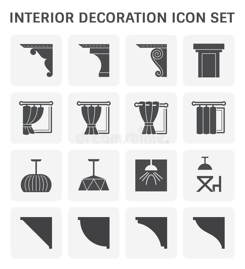 ?cone da decora??o interior ilustração stock