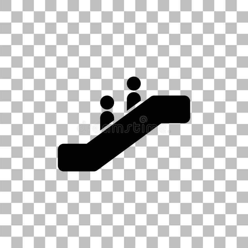 ?cone da escada rolante liso ilustração do vetor