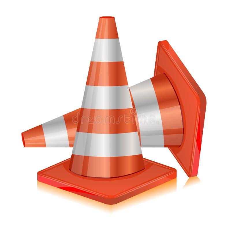 Cone da estrada ilustração stock