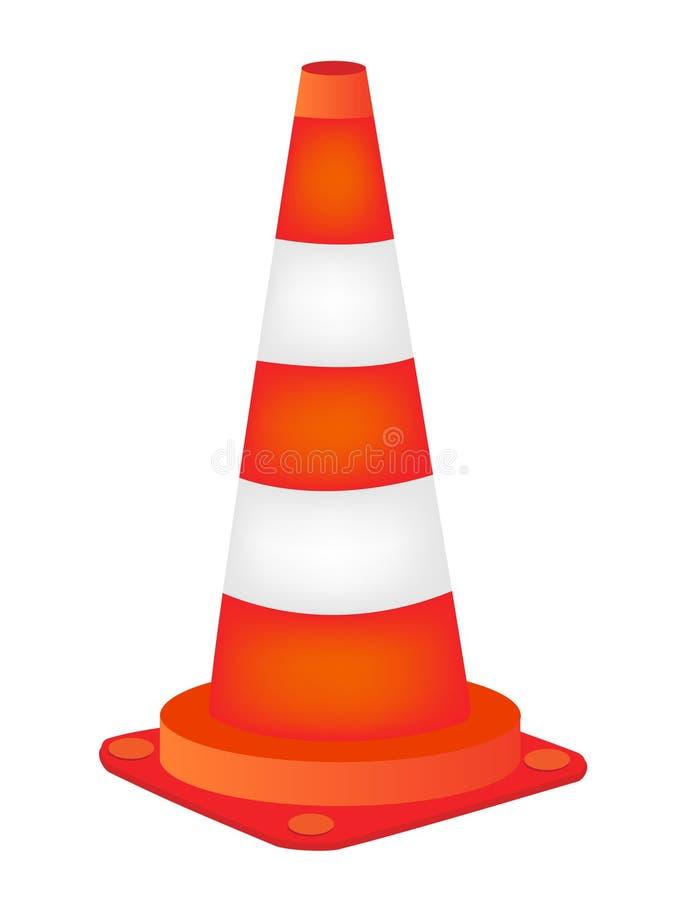 Cone da estrada ilustração royalty free