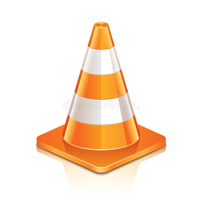 Cone da estrada no branco ilustração royalty free