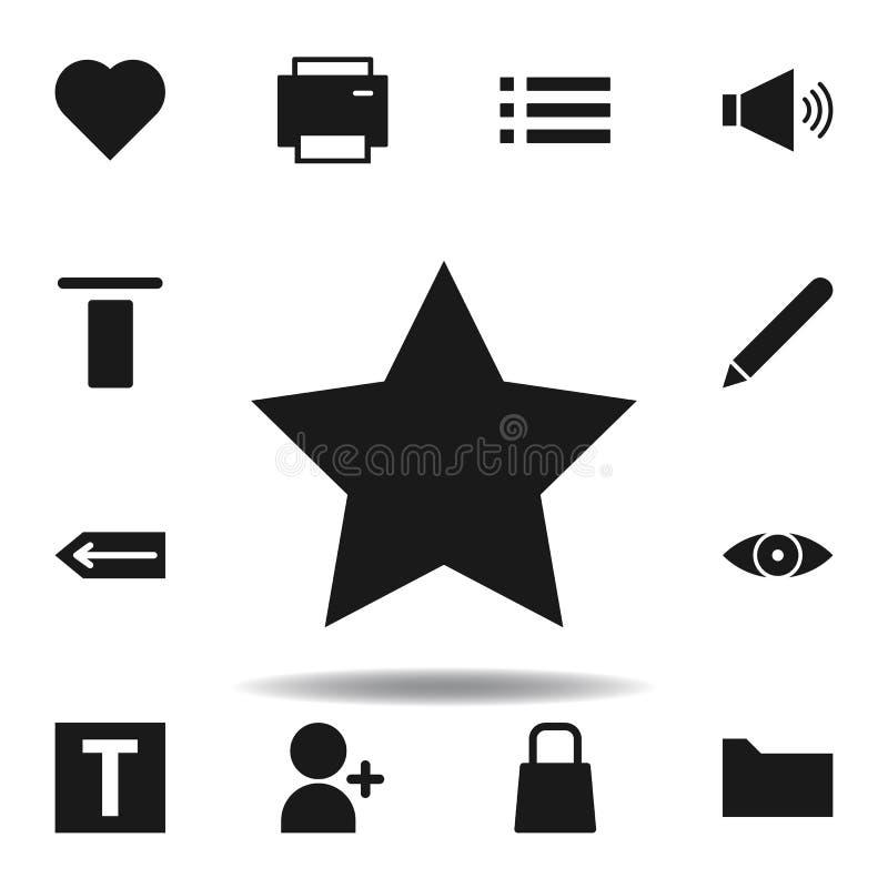 ?cone da estrela do Web site do usu?rio ajuste dos ícones da ilustração da Web os sinais, símbolos podem ser usados para a Web, l ilustração do vetor