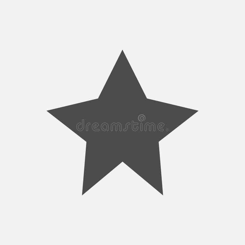 ?cone da estrela isolado no fundo branco Ilustra??o do vetor ilustração royalty free