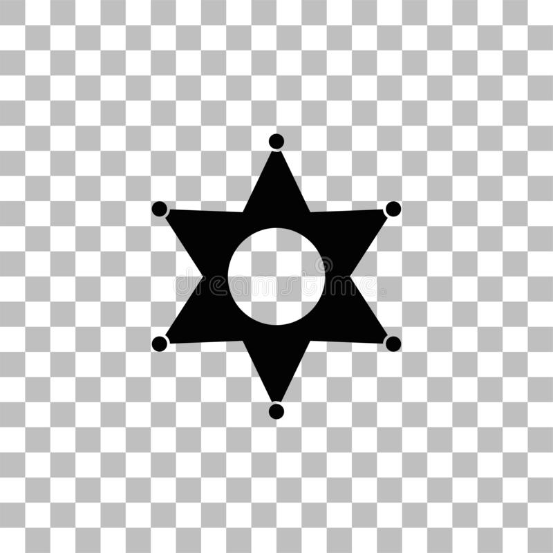 ?cone da estrela liso ilustração stock