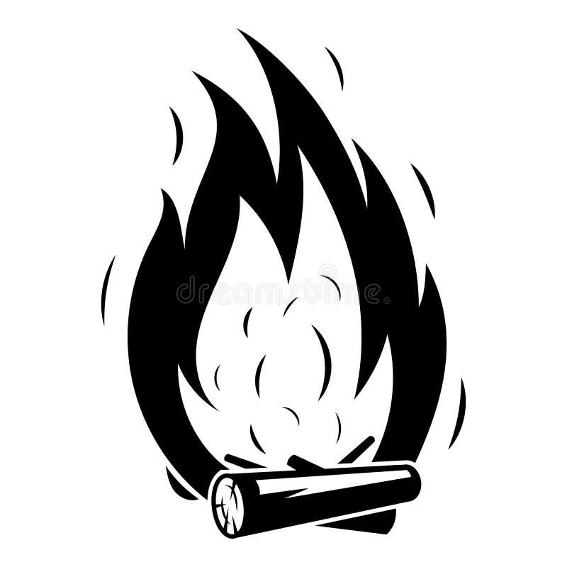 ?cone da fogueira, estilo simples ilustração royalty free