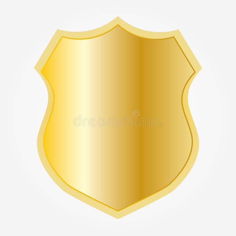 ?cone da forma do protetor do ouro ilustração stock