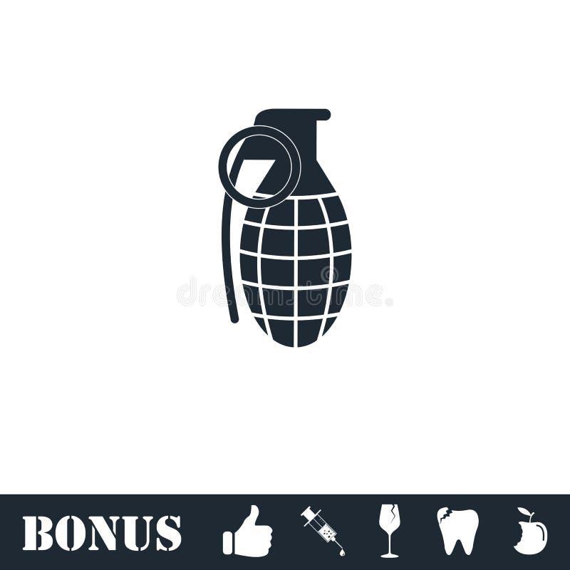 ?cone da granada de m?o horizontalmente ilustração stock