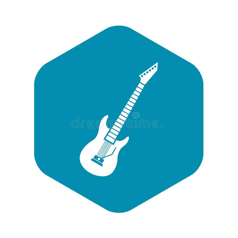 ?cone da guitarra el?trica, estilo simples ilustração royalty free