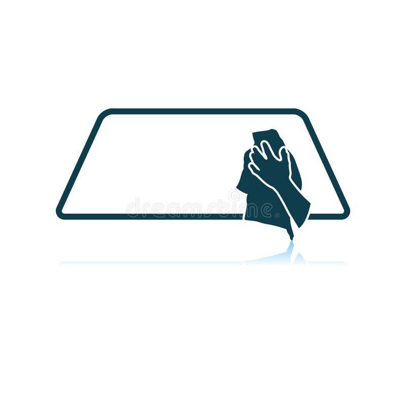 ?cone da janela de carro da limpeza ilustração do vetor