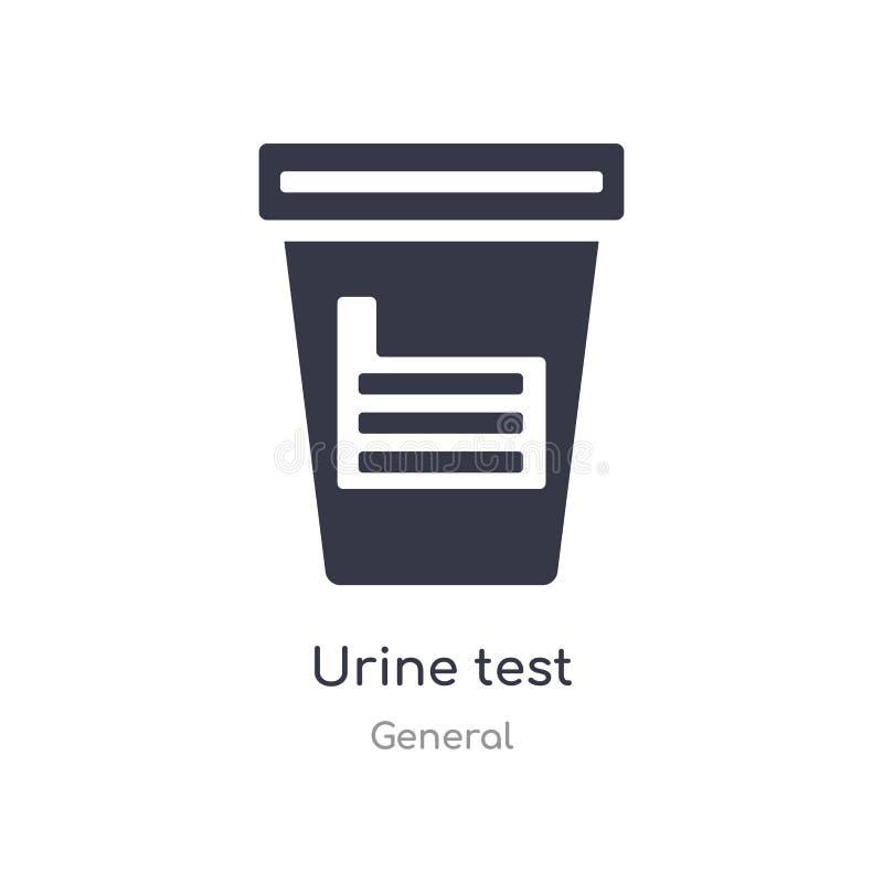 ?cone da an?lise ? urina ilustração isolada do vetor do ícone da análise à urina da coleção geral edit?vel cante o s?mbolo pode s ilustração royalty free