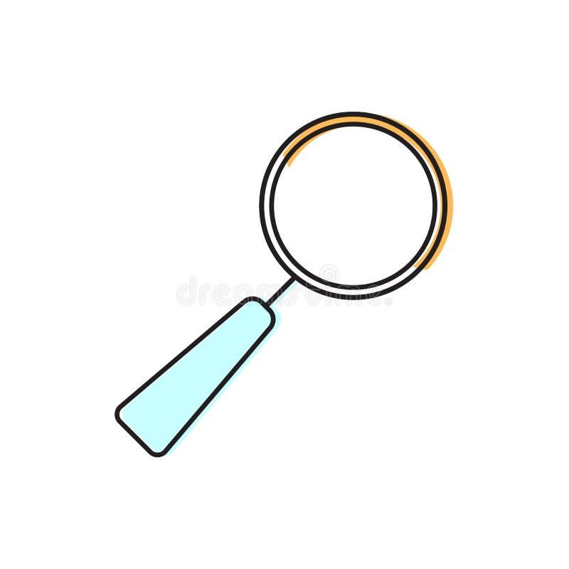 ?cone da lupa Elemento da escola para o projeto ilustração stock