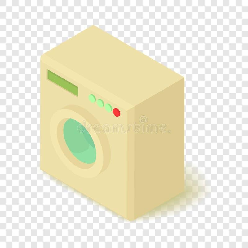 ?cone da m?quina de lavar, estilo 3d isom?trico ilustração royalty free