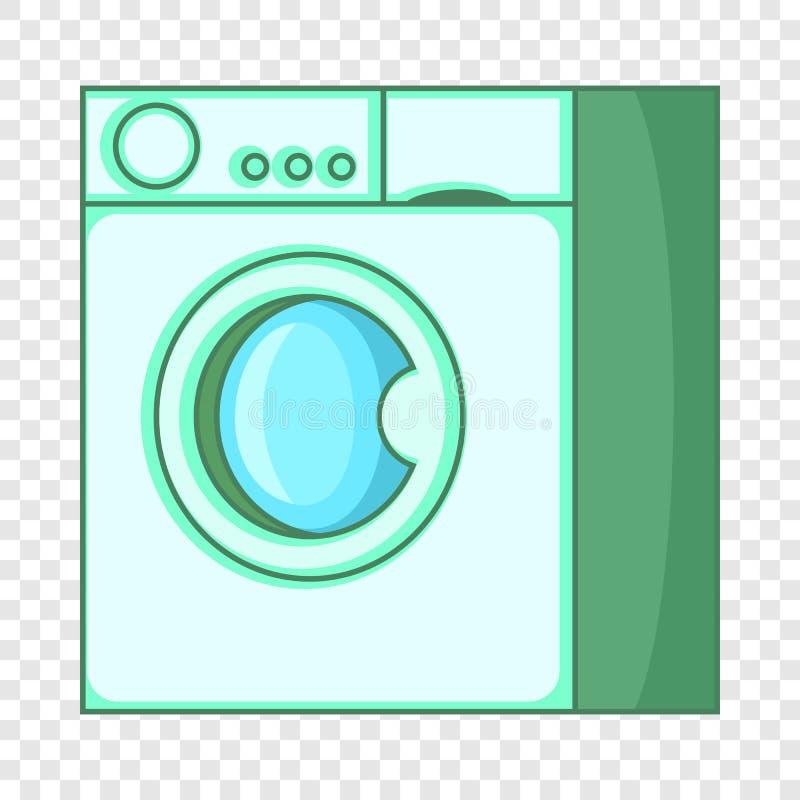 ?cone da m?quina de lavar, estilo dos desenhos animados ilustração stock