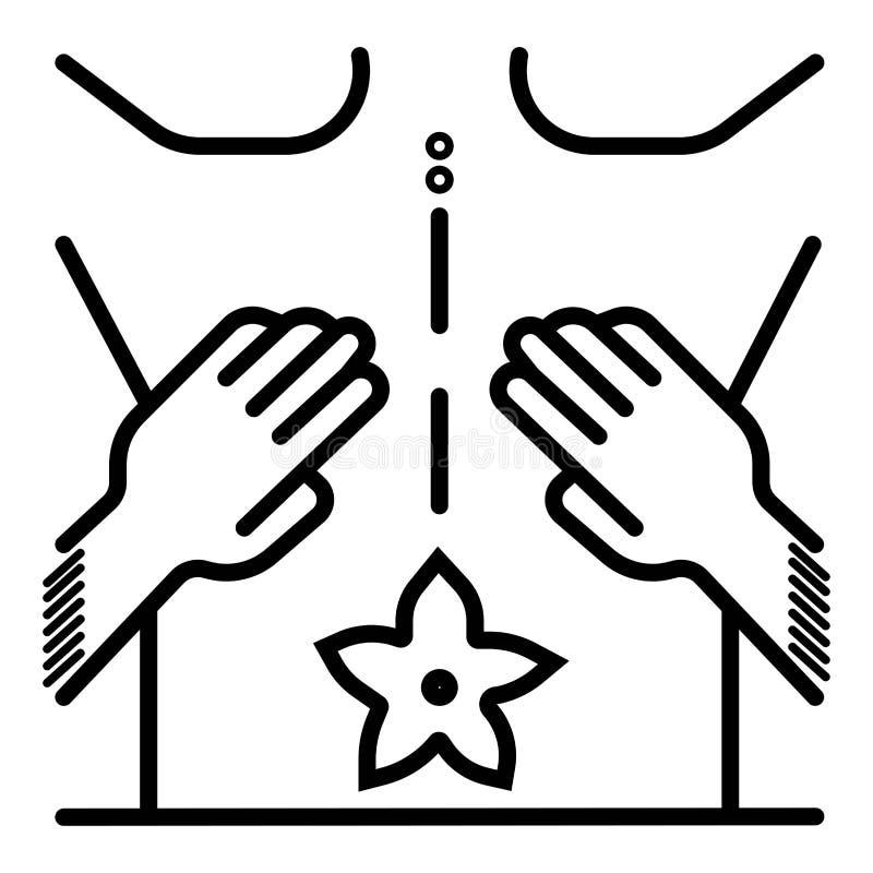 ?cone da massagem dos termas ilustração royalty free