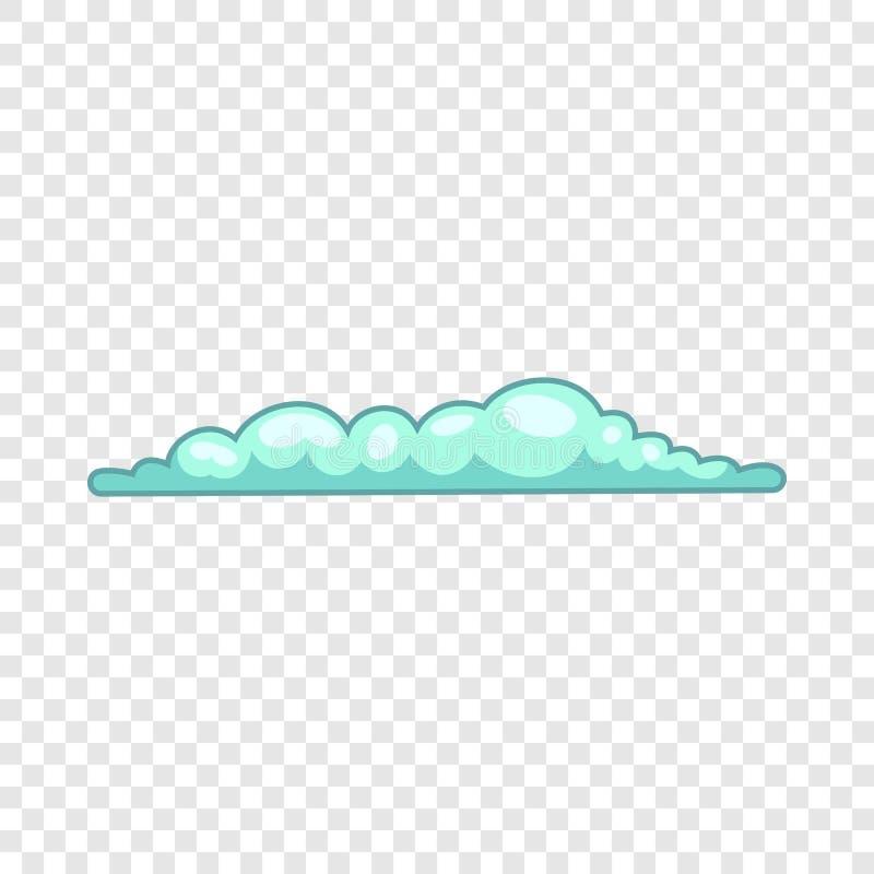 ?cone da nuvem da mola, estilo dos desenhos animados ilustração do vetor
