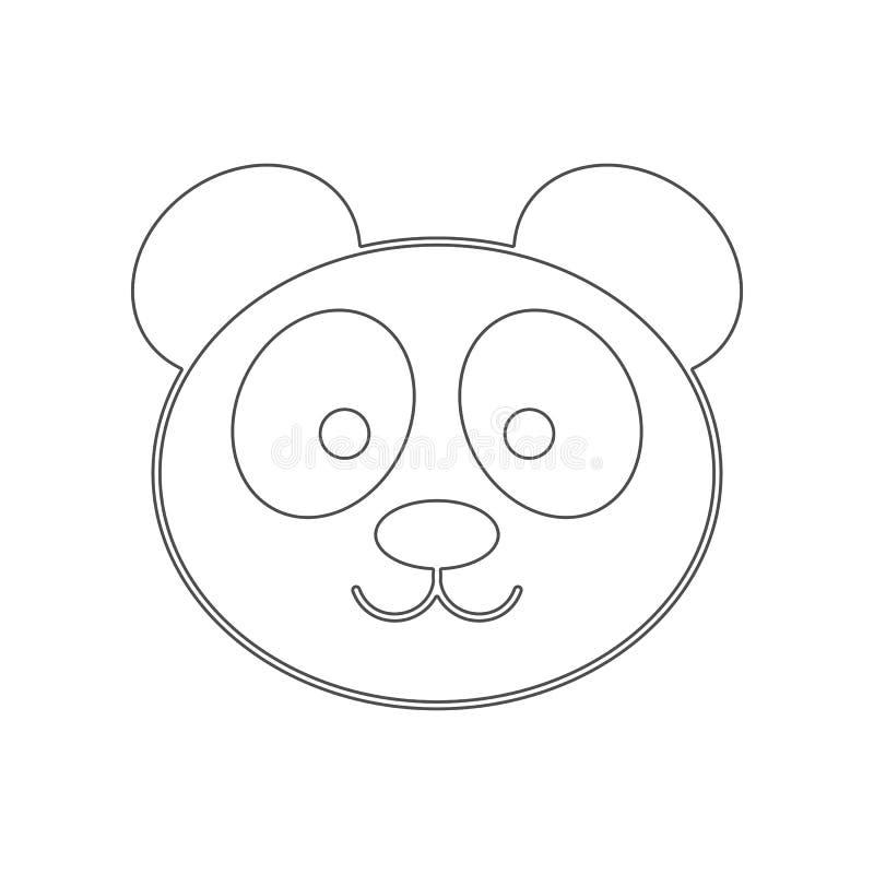 ?cone da panda Elemento de China para o conceito e o ?cone m?veis dos apps da Web Esbo?o, linha fina ?cone para o projeto do Web  ilustração stock