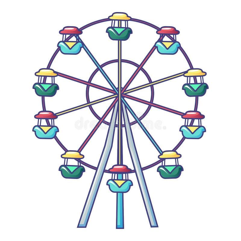 ?cone da roda de Ferris, estilo dos desenhos animados ilustração royalty free