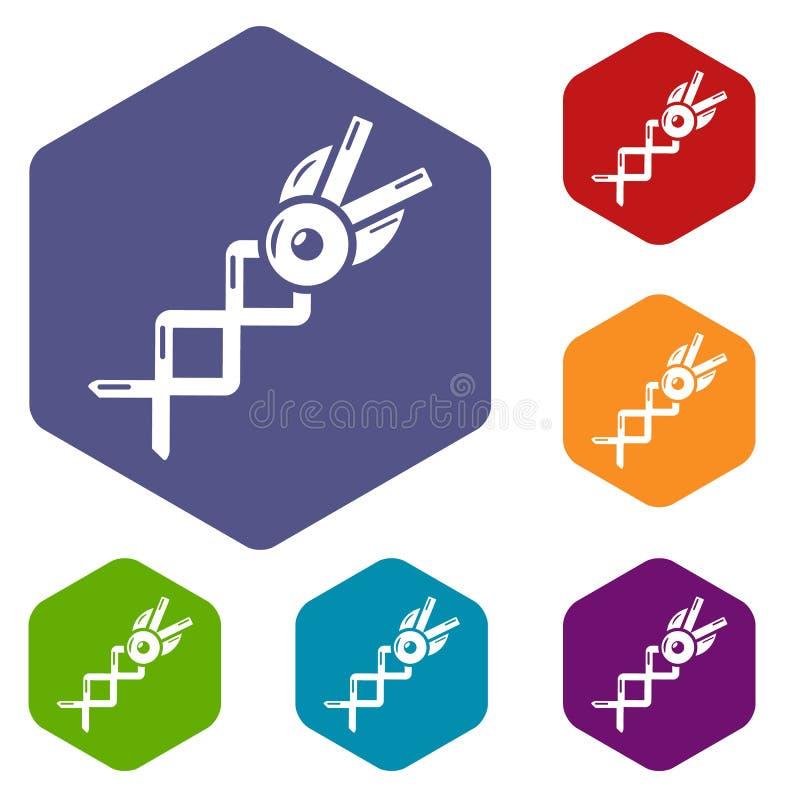?cone da tesoura da mola, estilo simples ilustração stock